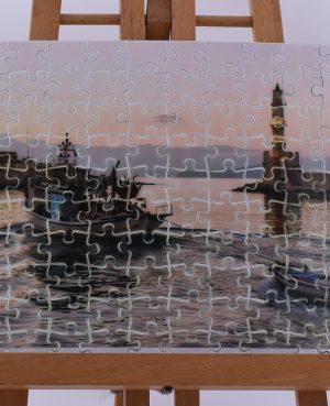 Παζλ με το λιμάνι των Χανίων